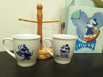 新品箱入り/ディズニー柄ペア マグカップ