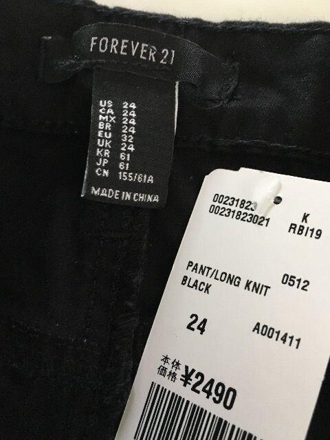ライダー スキニー 黒 24 Forever21 < ブランドの