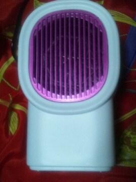 超小型温風電気ファンヒーター家庭用100V500W速暖房