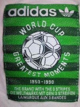 adidas アディダス サッカー ワールドカップ ポスター デザイン Tシャツ ホワイト Sサイズ