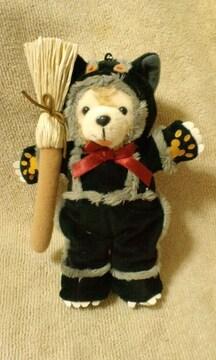 ディズニーTDS2009ハロウィンダッフィーぬいぐるみバッチ黒猫