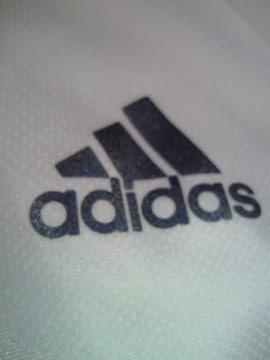 adidas アディダス 襟つき シャツ ホワイト JOサイズ サラサラ ポロシャツ風
