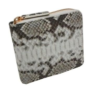 パイソン 財布 蛇革 メンズ 二つ折り ラウンドジップ SNW-A104