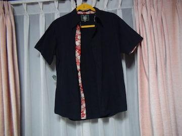 クルーズカンパニーのドレスシャツ(M)黒!。