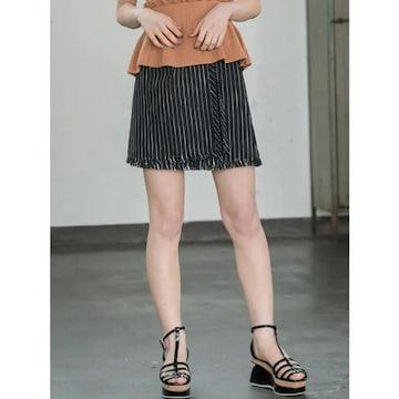 MURUA ラップミニスカート ブラック