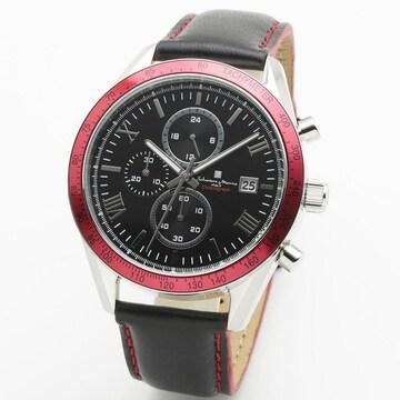 サルバトーレマーラ カジュアルクロノ腕時計SM19108-SSBKRD1
