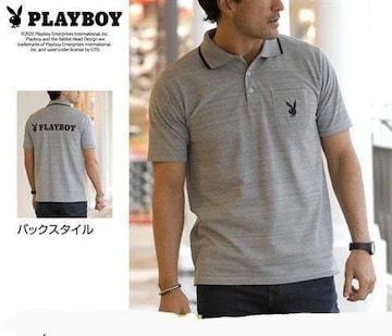 4Lサイズ高貴品格!紳士的ブランド品PLAYBOY!半袖ポロシャツ!新品タグ付き