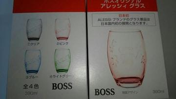 非売品SUNTORY ボス×アレッシィ 景品国内初グラス全4種!