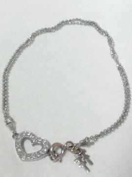 K18 750 ホワイトゴールド ダイヤモンド フォリフォリ【Folli Follie】ブレスレット
