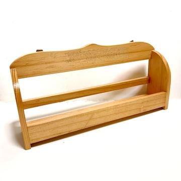 【美品/難あり】木製ラック/スパイスラック/壁掛けフックあり
