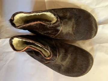 ハラコショートブーツ サイズ23