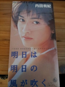 内田有紀*明日は明日の風が吹く◇CDシングル美品◯