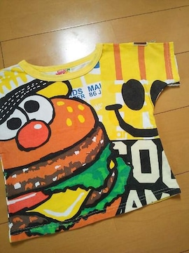 中古バカポテどあっぷTシャツ110黄JAM