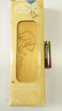 新品未使用くまのプーさんペンケース(筆箱、筆入れ)&ボールペン