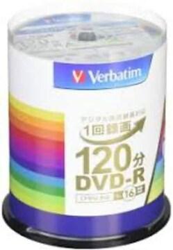 サイズ100枚 三菱ケミカルメディア Verbatim 1回録画用DVD-R(CPR