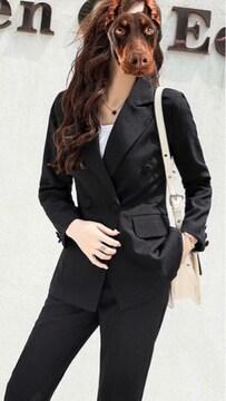 美スタイルパンツスーツ上下セット黒