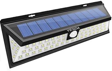 ソーラーライト 90LED センサーライト 超明るい 広角照明 人感セ