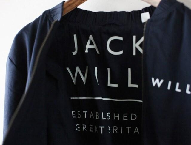 JACK WILLS*ジャックウィルス*インナーロゴ入りジップアップブルゾン・М