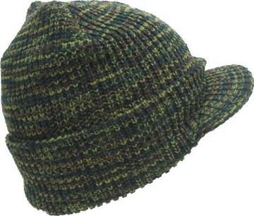 送料無料 N181 MIX つばニット cap 帽子 防寒 JEEP 迷彩