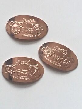 ミッキー&ダッフィー スーベニアメダル 3枚セット ♪ Dz21
