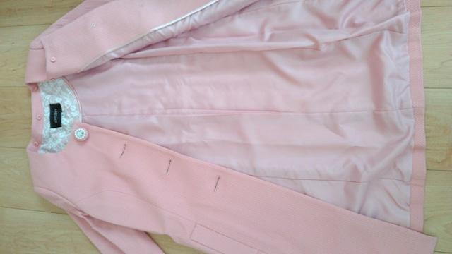 美品☆ジャスグリッティ☆ピンク色コート☆日本製 < ブランドの