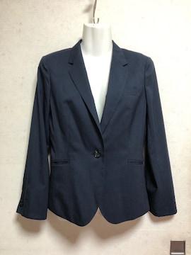 新品未使用LES MUESスーツジャケット紺色ネイビー7号S春夏薄手
