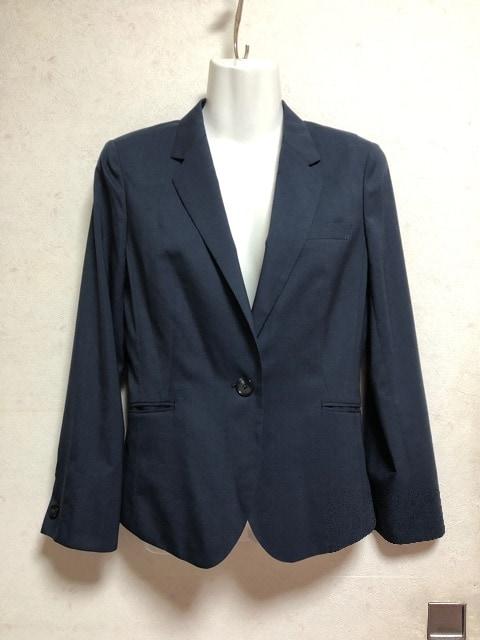 新品未使用LES MUESスーツジャケット紺色ネイビー7号S春夏薄手  < 女性ファッションの