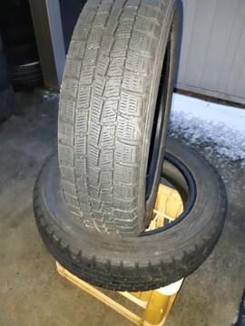 155/65R14 DUNLOP スタッドレスタイヤ、2本のみ