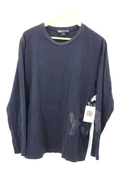 Y-3(ワイスリー)胸ロゴプリント ロングスリーブシャツクルーネックTシャツ