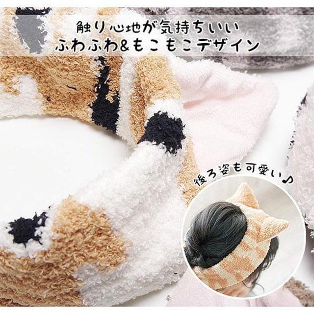 �溺 ネコ好きにはたまらない ネコ耳付きヘアバンド アメショ < 女性アクセサリー/時計の
