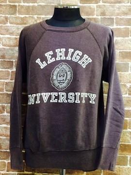 実寸S/M!50's60'sビンテージ.LEHIGH大学.カレッジスエットUSA古着f&eランタグ