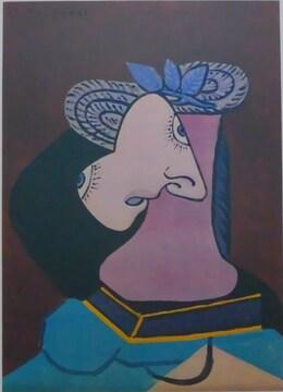 ピカソ 青の葉の麦わら帽子