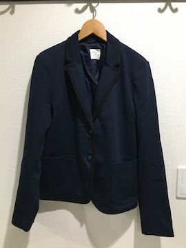 GAP ギャップ ネイビー 紺 厚手 ジャケット ブレザー アウター コート レデイース