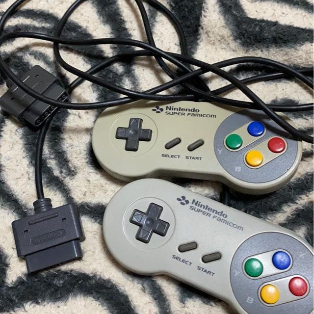 *Nintendo *スーパーファミコンコントローラー二つ*  < ゲーム本体/ソフトの