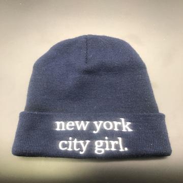 即決 INGNI ニット帽 new york city girl