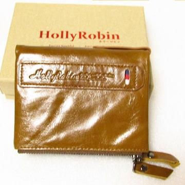 未使用 HollyRobin ホリーロビン 二つ折り財布 本革