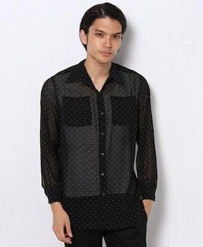 603 シフォンピンドットシャツ
