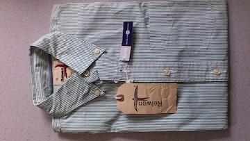 激安85%オフRelwen、長袖シャツ(新品タグ、緑×白、ストライプ、M)