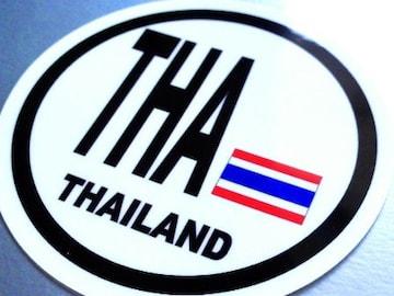 ○円形 タイ国旗ステッカービークルID国識別シール