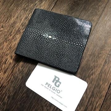 PELGIO スティングレイ エイ革 ガルーシャ 高級ポリッシュ 財布