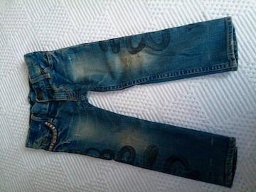 宇都宮店限定ヒスミニ  未使用タグ無しダメージ加工スネイク    スキニー size95