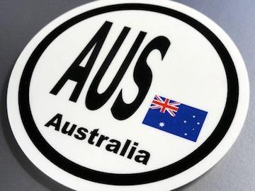 ○円形 オーストラリア国旗ステッカー国識別シール AUS