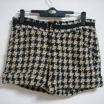 イマージュ W61 編みこんだようなショートパンツ