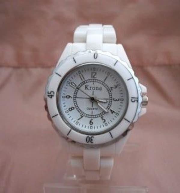 ホワイトプラベルトウォッチWH-レディース腕時計 < 女性アクセサリー/時計の