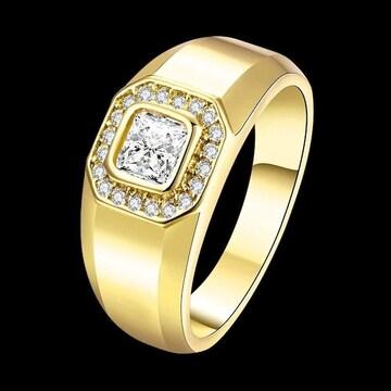残1点990円★超人気9 mmゴールドメッキ指輪18号日本サイズ