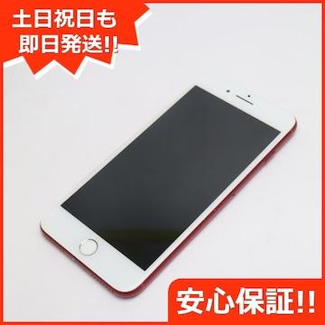 ●保証●良品中古●docomo iPhone7 PLUS 256GB レッド●白ロム