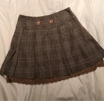♪女子整理品♪OLIVE des OLIVE☆ツィード膝上丈スカート♪