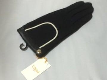 新品 クロエ CHLOE chloe 手袋 ブラック 黒