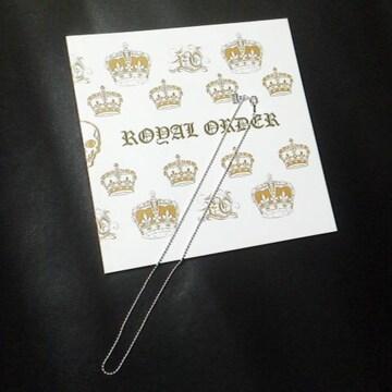 レア【品薄】ROYAL ORDER/ロイヤルオーダーネックレスボールチェーン&SHOP袋【新品】