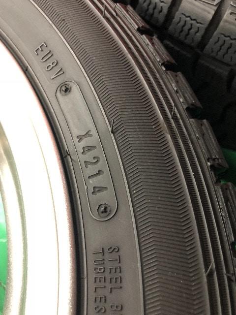0082854)激安美品アルミホイ-ル国産スタッドレスタイヤ4本セット155/65R14送料無料 < 自動車/バイク